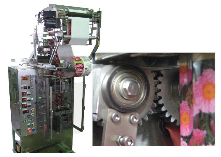 日本khk小原齿轮ss标准齿轮的使用实例  使用在包装机(na-4r-60k)的压